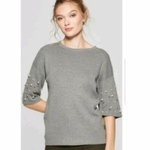 A New Day Pearl Sleeve Top